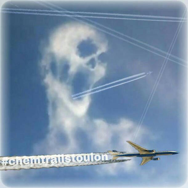 Chemtrails Toulon  by sker83