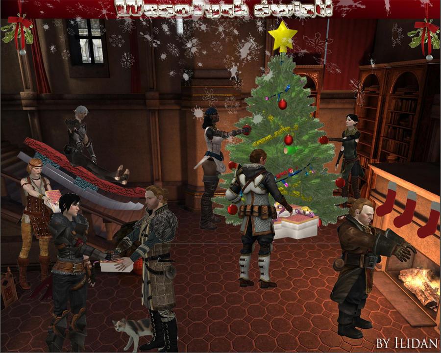 Dragon Age - Merry Christmas by IlidanDA on DeviantArt
