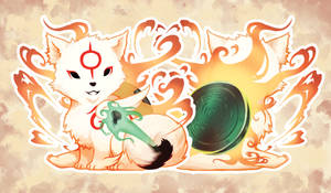 Tiny Okami by Draconli