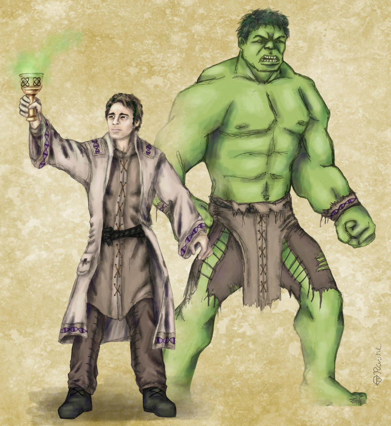 Képek - Page 6 Dnd_avengers___bruce_and_hulk_by_mcat711-d626ow5
