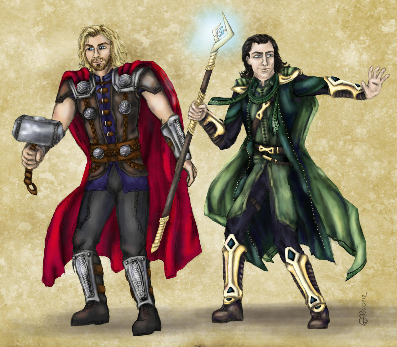 Képek - Page 6 Dnd_avengers___thor_and_loki_by_mcat711-d626p96