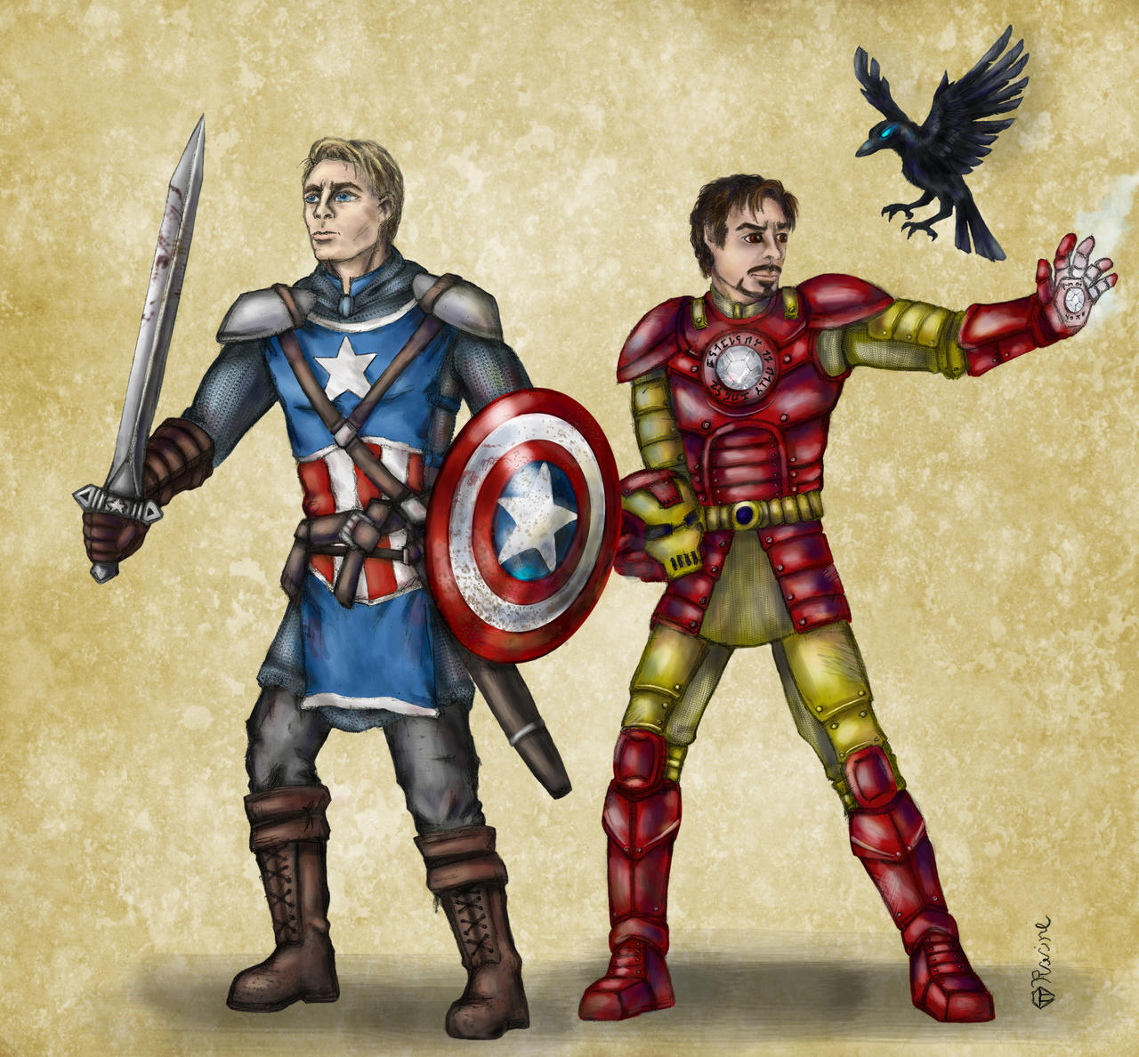 Képek - Page 6 Dnd_avengers___cap_and_iron_man_by_mcat711-d626pja