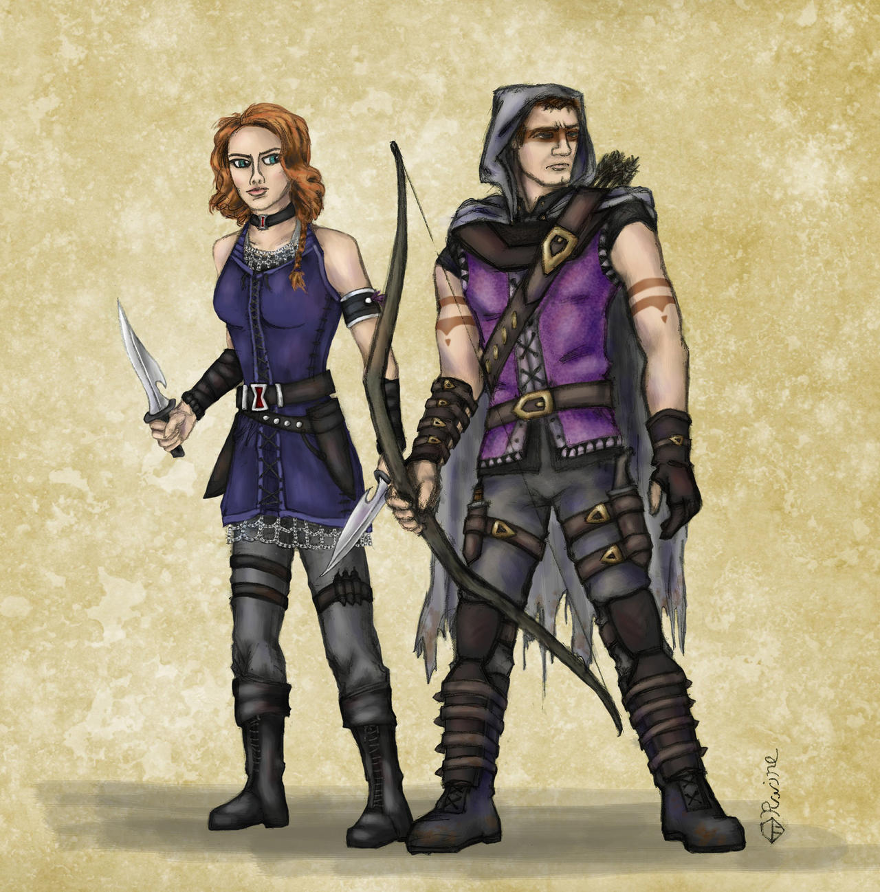 Képek - Page 6 Dnd_avengers___hawkeye_and_black_widow_by_mcat711-d626ps6