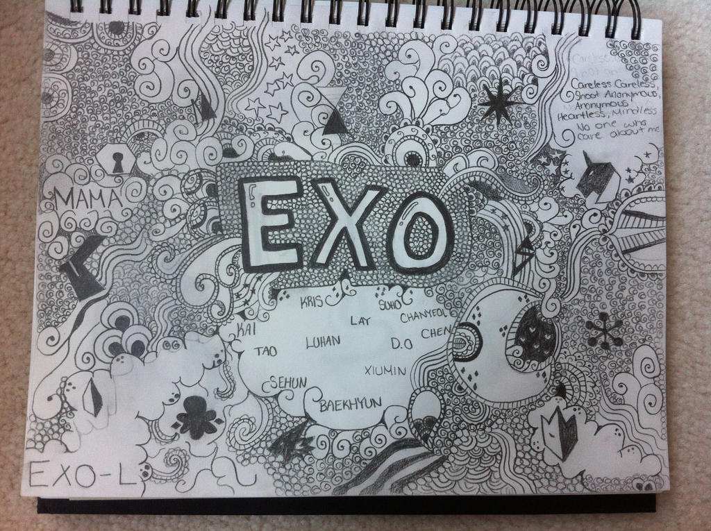 EXO Doodles by Deedee78965