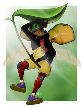 Jade Headed Buffalo Beetle