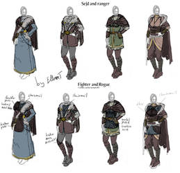 Main female outfits for Bifrost