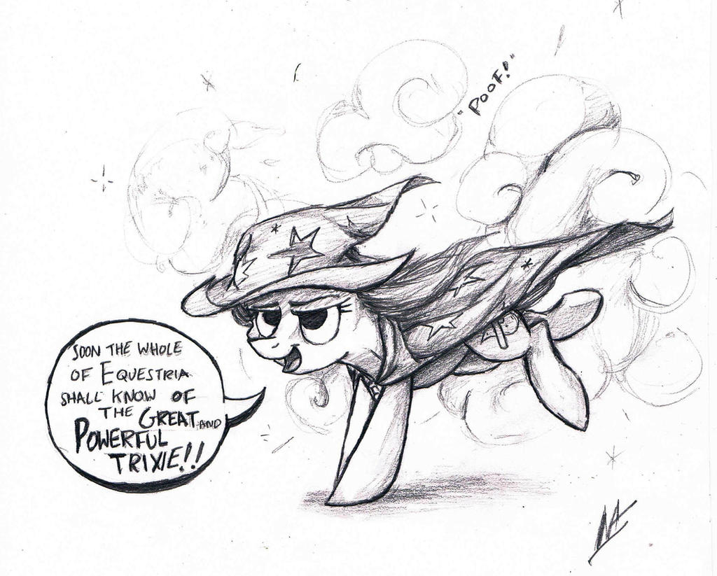 The Great and Powerful Trixie ~Sketch by NavigatorAlligator