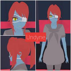 Yandere Simulator skin- Undyne by NicokeSenpai