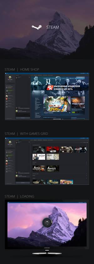 Steam Design interface
