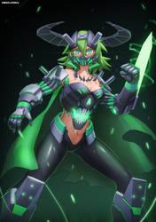 Mecha girls - Green demon model by GreenL3gacy
