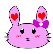 Heart Bunny by HoneyMango