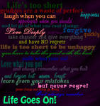 Quote Life goes on