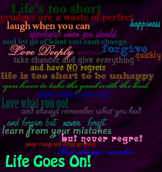 Quote Life Goes On By Tannabi On Deviantart