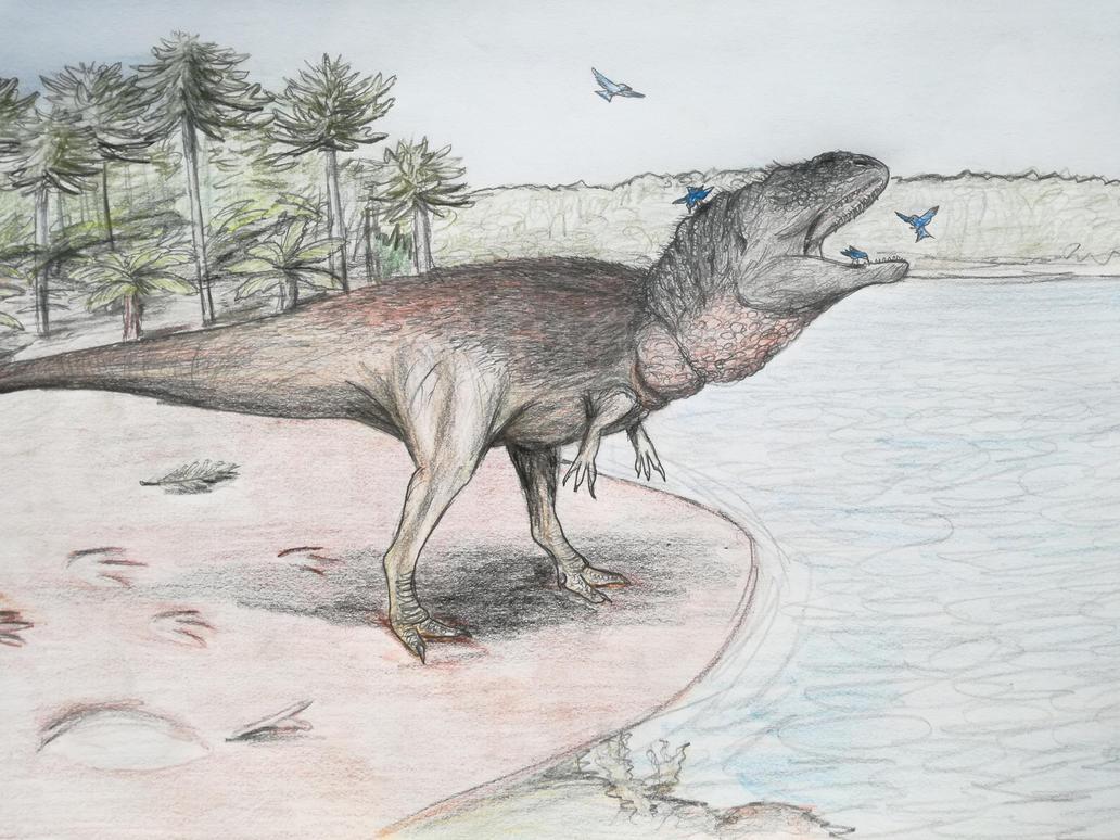 Giganotosaurus hygiene by Qbliviens