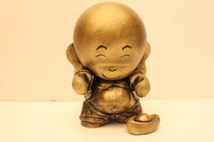 Buddha Munny by spilledpaint88