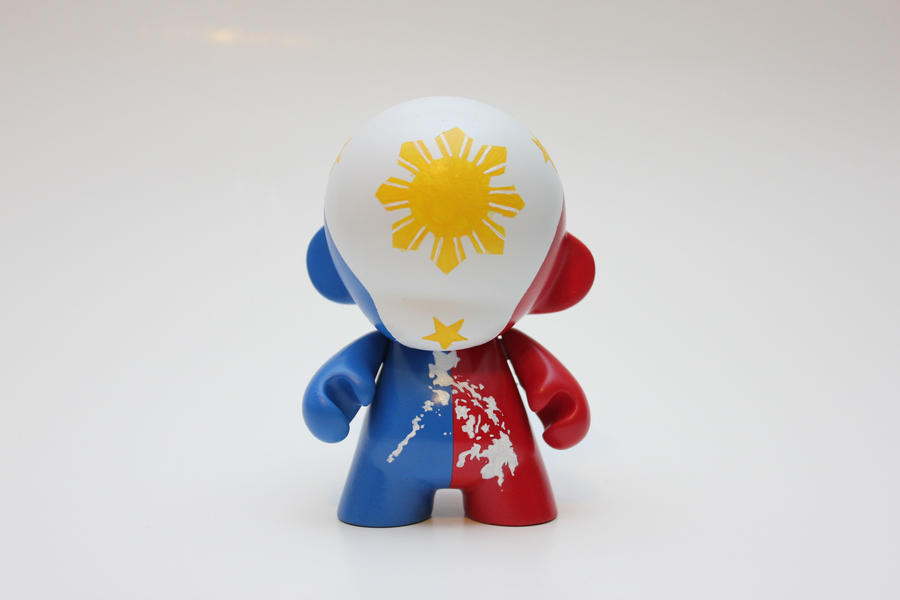 Philippine Flag Munny By Spilledpaint88