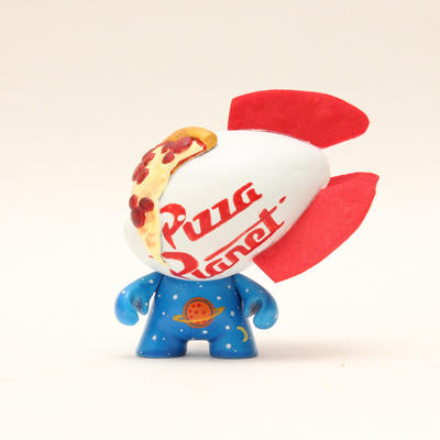 Pizza Planet Vinyl Toy by spilledpaint88