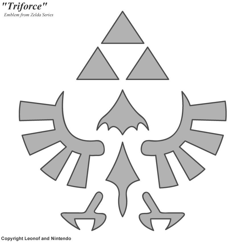 Triforce stencil by unisaurusrex on deviantart