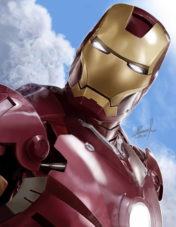 IRON MAN DIGITAL PAINTING by MAUZIS