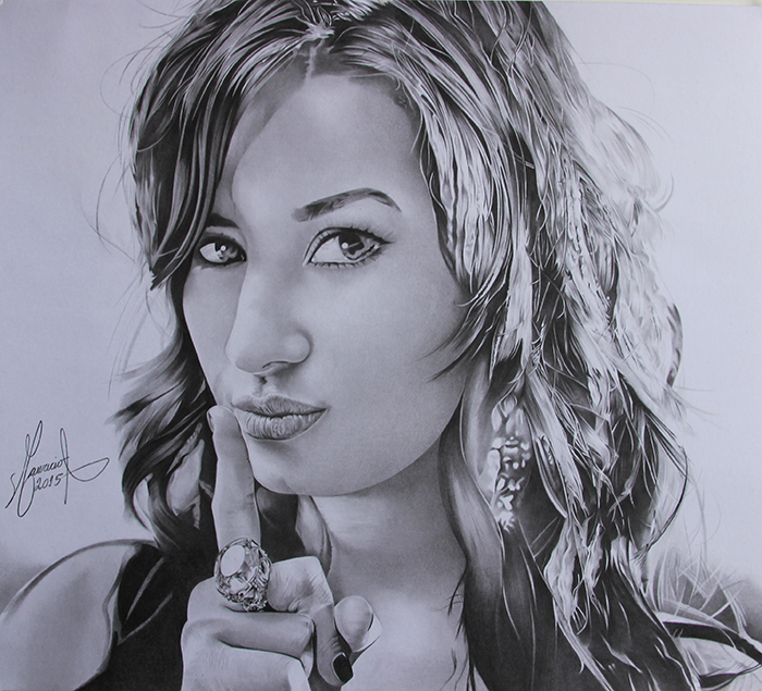 Demi Lovato - Drawing by MAUZIS
