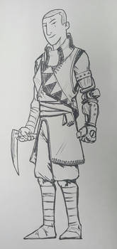 One armed monk
