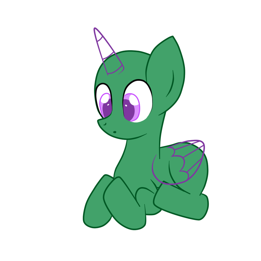 Mlp sitting pony