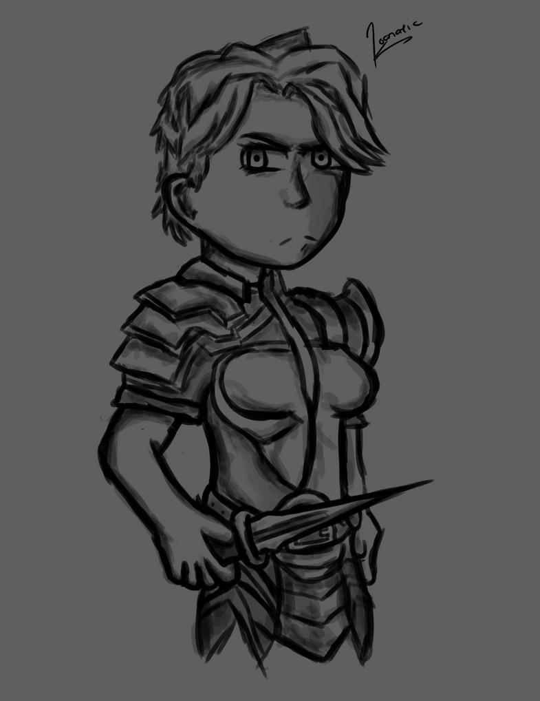 Warrior Girl by toontownloony
