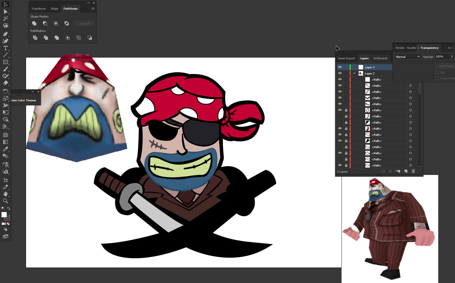 Unfinished Raider Logo [Scrapped] by toontownloony
