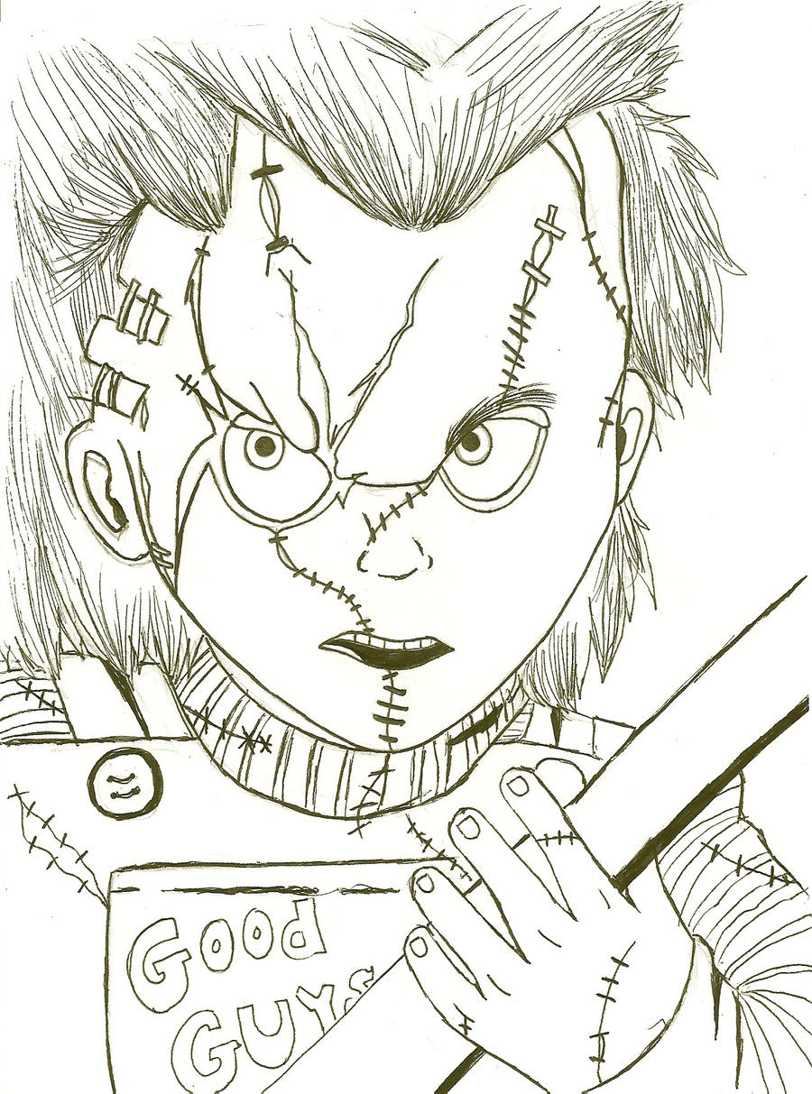 Coloring Pages Chucky Doll Coloring Pages chucky again xd by that love voodoo on deviantart voodoo