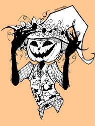 Giggly Pumpkin Head by That-Love-Voodoo