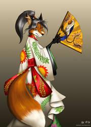 Kimono Fox by angrycontra