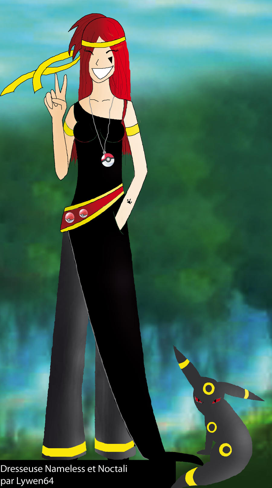 Dresseuse Pokemon Et Noctali By Lywen64 On Deviantart