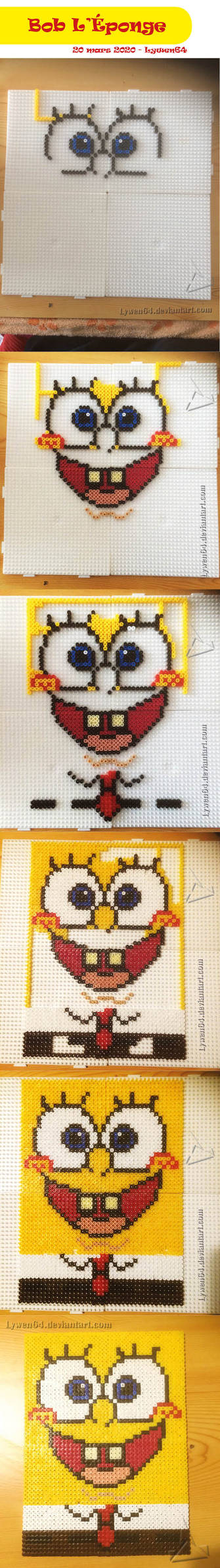 Bob l'eponge Hama Beads - Step by step
