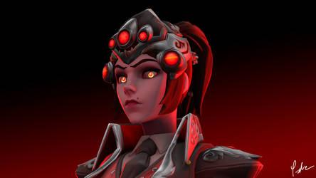 Widowmaker Huntress - The Stare by LeNoobPainter