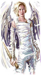 Gabriel from Constantine by aki-akiko