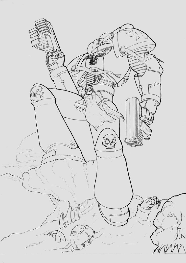 space marine pencils by androsm