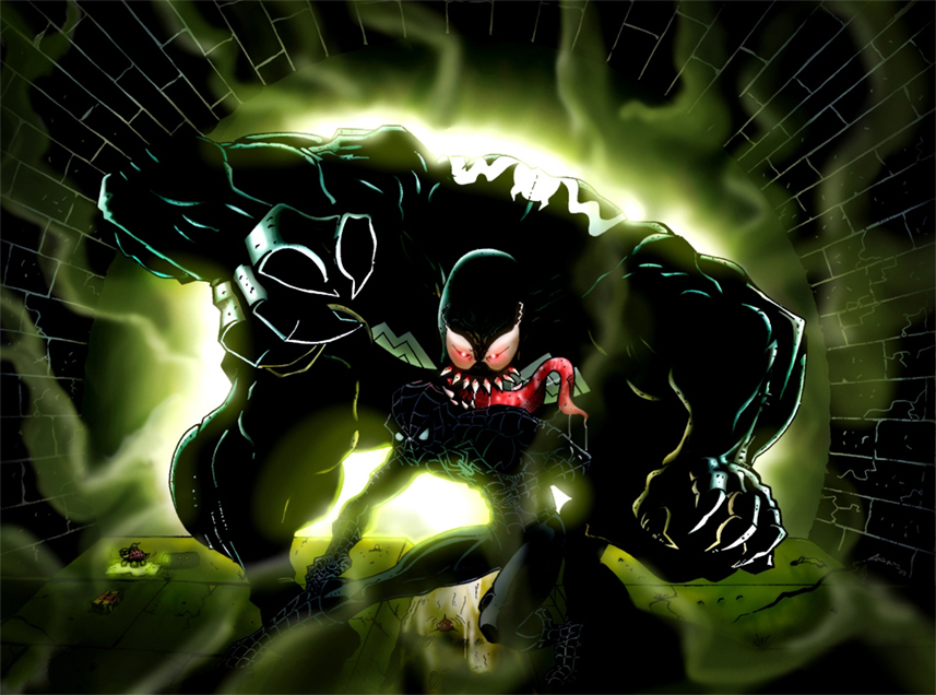 SpideyvsVenomcolor by androsm