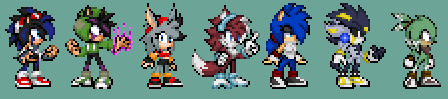 All mah characters so far by xXDaBoss99Xx