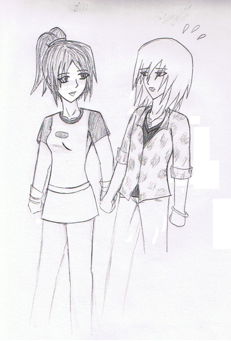 Jill and Skye In progress by Mirria1