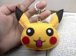 Pikachu Felt Keychain by blissfulhandmade