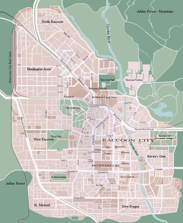 Full Raccoon City Map by Ruhe1986
