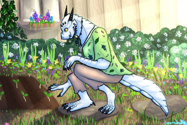 Gardening by dreamerdoodles