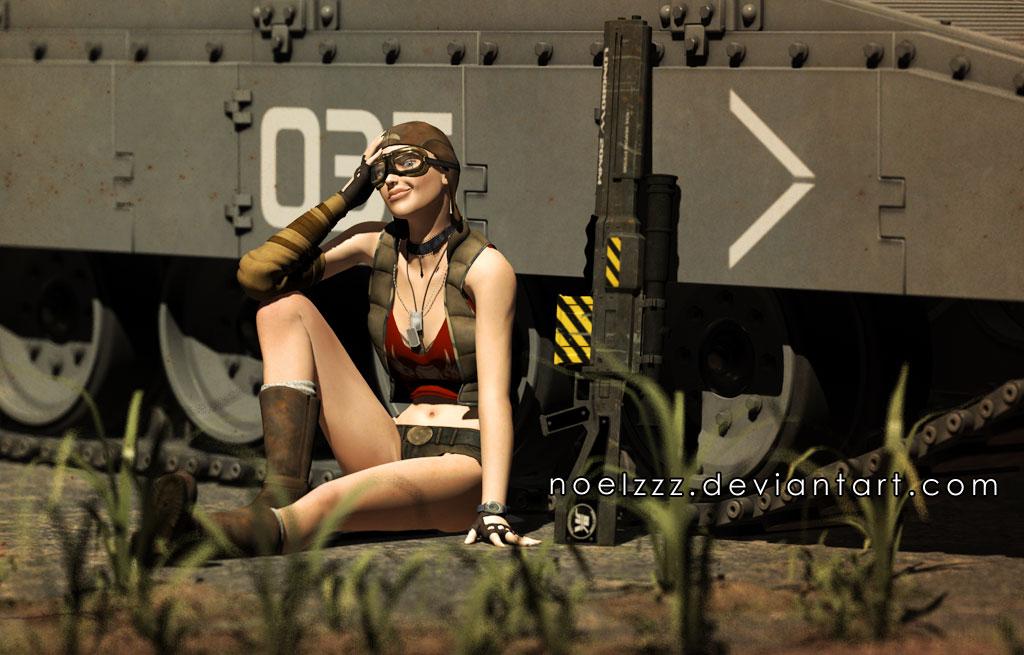 Tank Girl 3D by noelzzz