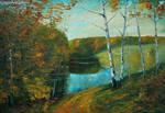 Alexander Jose, Autumn. Cool Morning. Ukraine by Joseartgallery