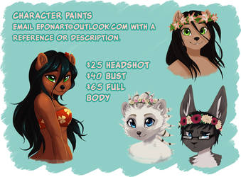 Character Paint Commissions by e-Pon