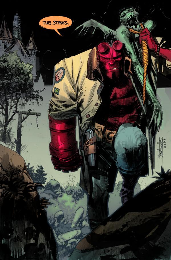 hellboy  color example by warnia