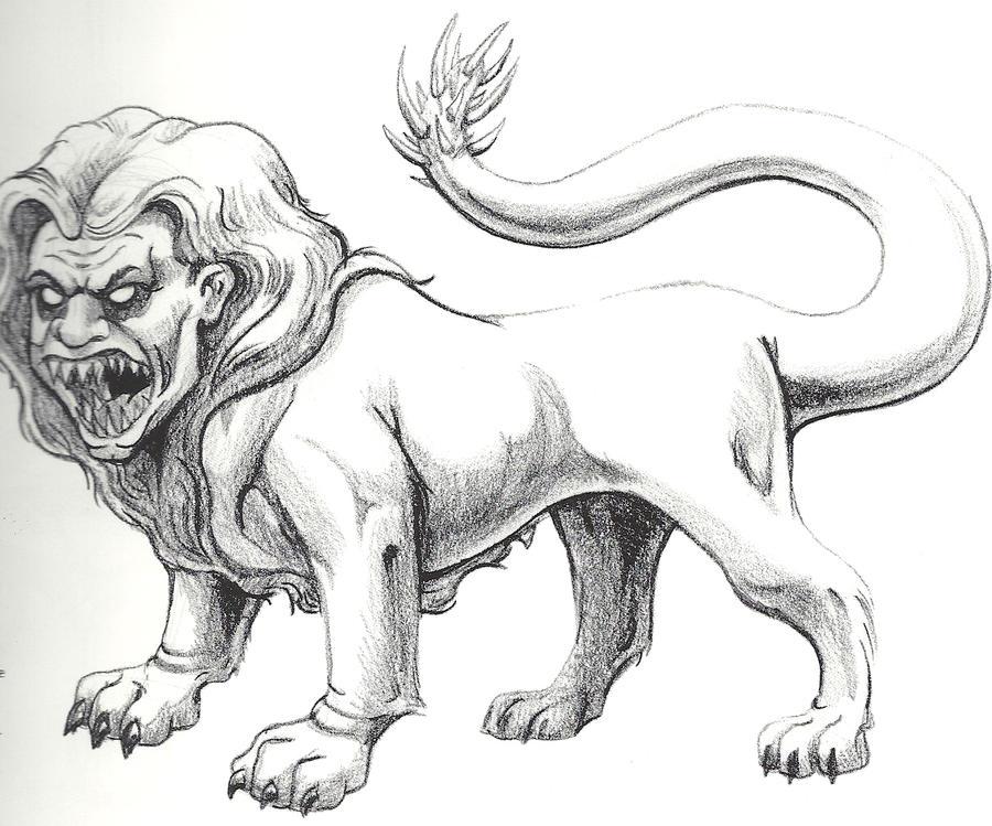 Manticore sketch by Frodude13 on DeviantArt