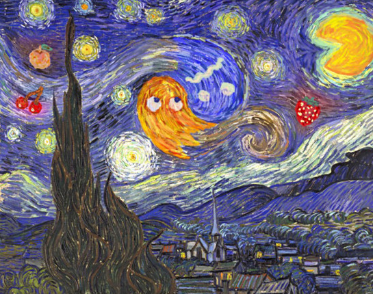 Pacman meets Van Gogh by ggillespie