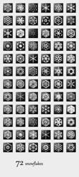 72 Snowflakes by ggillespie