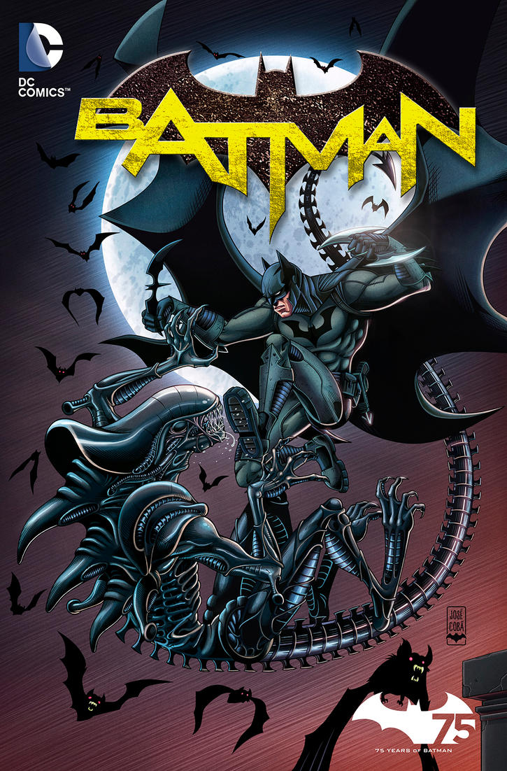 Batman VS Alien by VdVector